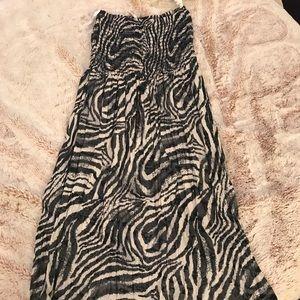 Flower Love swimsuit coverup/sundress O/S Zebra